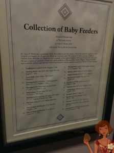Collection of baby feeders  and other tools through the years.